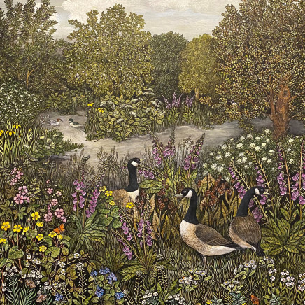 Barbara Winrow - Silver Weed and Canada Geese