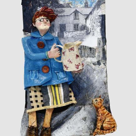 Luned Rhys Parri - Gwraig Fferm a Chath / Farm Wife and Cat