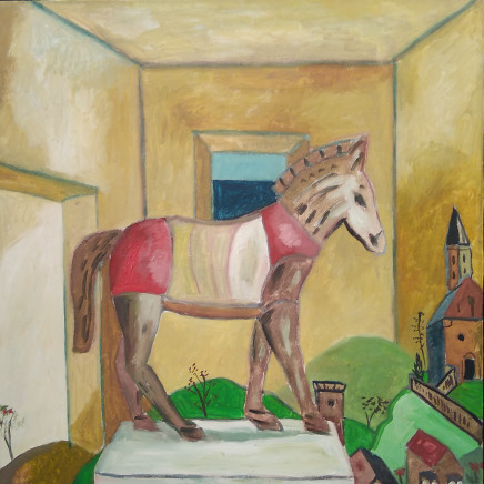 Emrys Williams - Interior with Trojan Horse