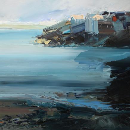 Sarah Carvell - Traeth, Dechrau Nosi, St Ives / Beach View, Evening, St Ives