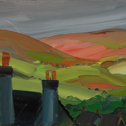 Sarah Carvell - Denbigh Chimneys, Stormy Light