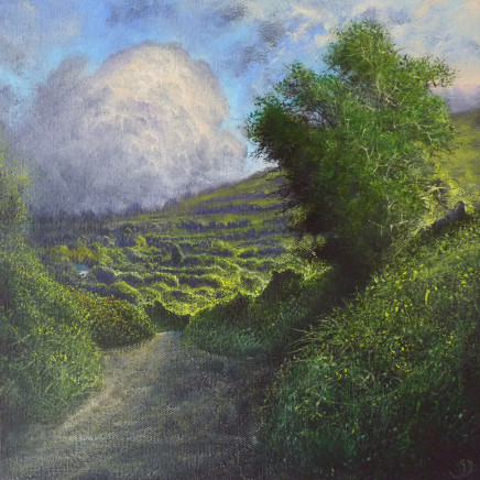 Gerald Dewsbury - Green Lane with Billowing Cloud