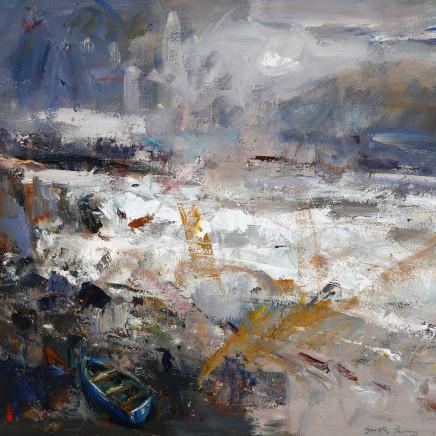 Gareth Parry - Môr yn y Gaeaf, ger Criccieth / Winter Sea, near Criccieth