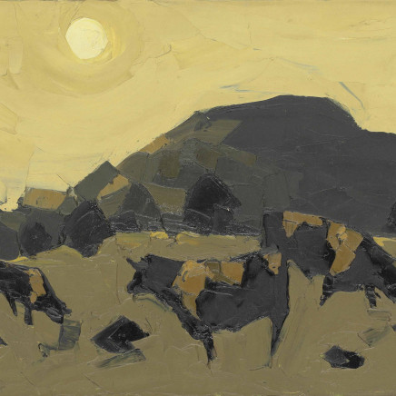 Kyffin Williams - Welsh Blacks, 1966
