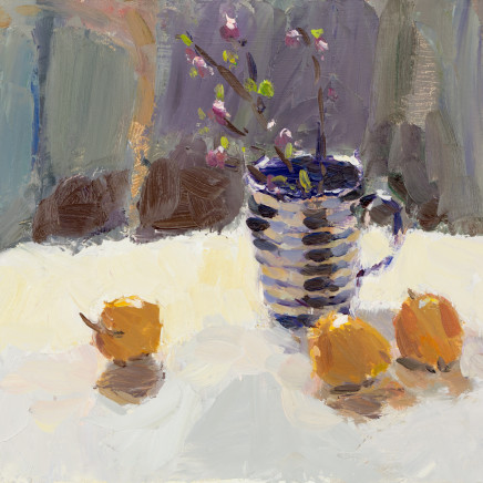 Lynne Cartlidge - Coral Berries and Passion Fruit in Lamp Light