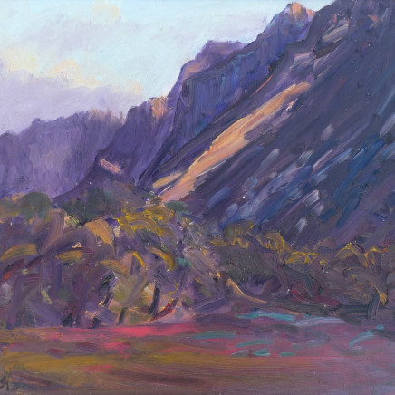 David Lloyd Griffith - Evening Light - Crib Goch and Nant Peris