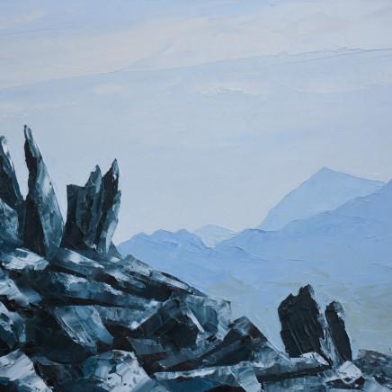 Gwyn Roberts - Yr Wyddfa o'r Glyderau / Snowdon from the Glyders