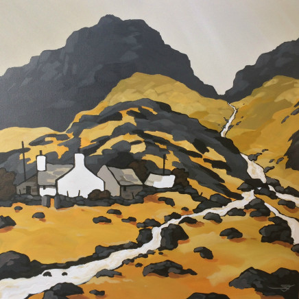 Stephen John Owen - Farm under Tryfan