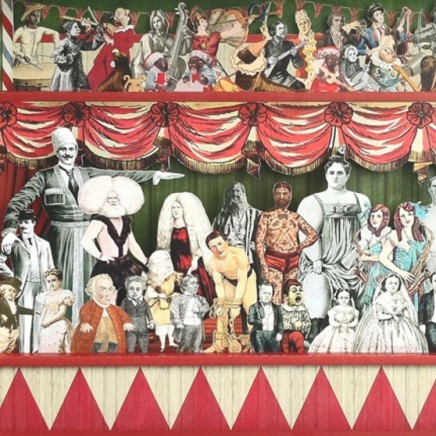 "<span class=""artist""><strong>Peter Blake</strong></span>, <span class=""title""><em>Tiny Tina the Tattooed Lady</em></span>"