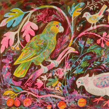 "<span class=""artist""><strong>Mark Hearld</strong></span>, <span class=""title""><em>Still Life with Amazon Parrot</em></span>"