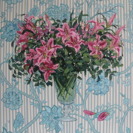 "<span class=""artist""><strong>Venetia Syms</strong></span>, <span class=""title""><em>Beaulieu Ciel Lilies  </em>, 2020</span>"