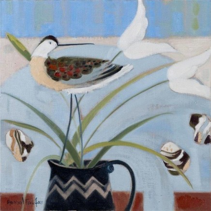 <span class=&#34;artist&#34;><strong>Anabel Fairfax SWA</strong></span>, <span class=&#34;title&#34;><em>Curlew with Pebbles</em></span>