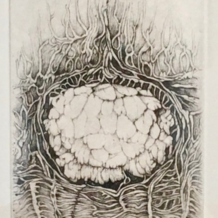 """L'une des 10 gravures au burin et à la pointe sèche composant le recueil """"D'un lointain passé"""", 2017"""