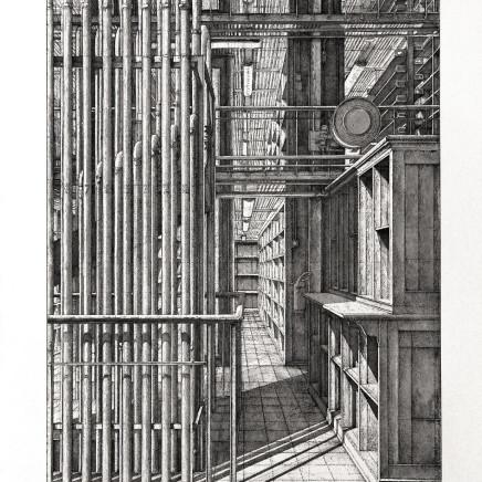 Érik Desmazières, Le Grand orgue pneumatique, Le Magasin Central des Imprimés, planche 1, 2013