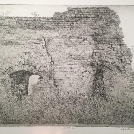 Charles Donker, Four à briques - Ruine d'un four de champ (polder près de Nijmegen, Persingen Ooy), Circa 2014