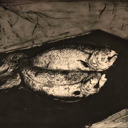 Marjan Seyedin, Nature morte aux poissons 2, 2018