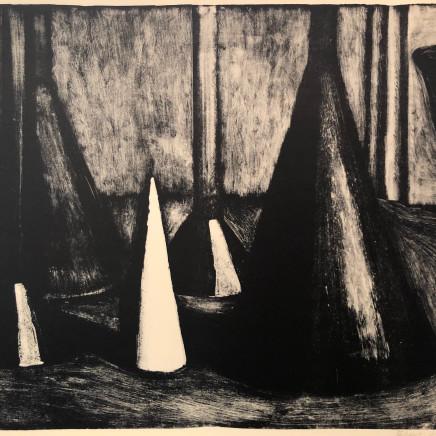 Jean-Baptiste Sécheret, Nature morte aux entonnoirs I, 1989