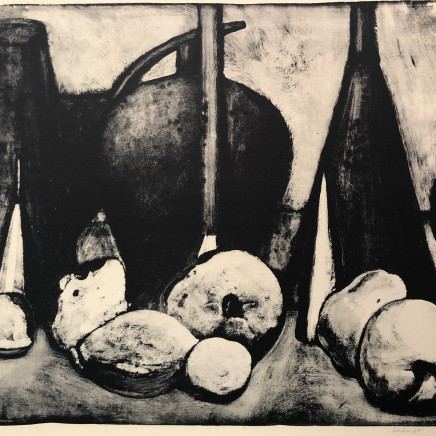Jean-Baptiste Sécheret, Nature morte aux coings, 1989