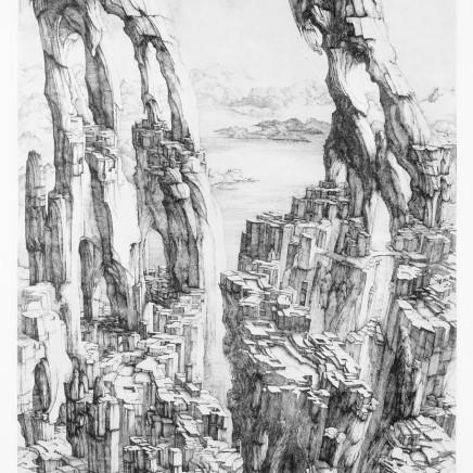 Érik Desmazières, Une Ville dans les falaises, 1977