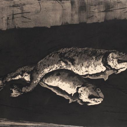 Marjan Seyedin, Nature morte aux poissons 1, 2018