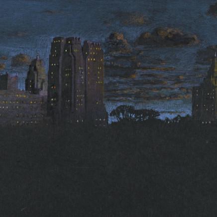 """Jean-Baptiste Sécheret, série """"Central Park, soir"""" #2 - Bleus, 2008-2020"""