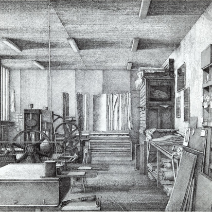 Érik Desmazières, Atelier René Tazé, villa du Lavoir, 2019