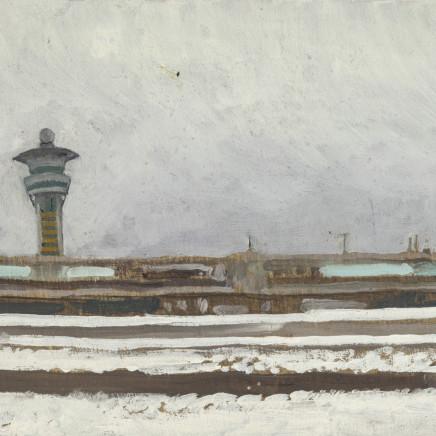 Charles-Élie Delprat, Orly sous la neige, 2019