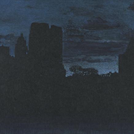 """Jean-Baptiste Sécheret, série """"Central Park, soir"""" #8 - Bleus, 2008-2020"""