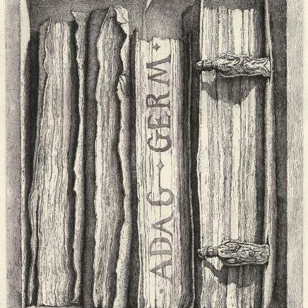 Érik Desmazières, Fragment de la Bibliothèque de Sir Thomas B. (II), 2009