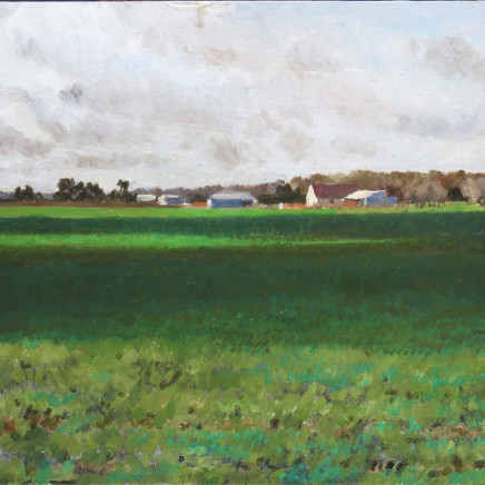 Charles-Élie Delprat, La Renauderie, plaines en hiver 2, 2018