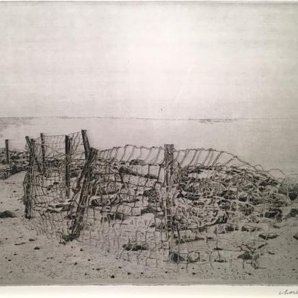 Charles Donker, Groningen eemshaven - Rooster en stenen (Grille et pierres), 2015