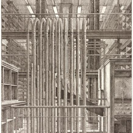Érik Desmazières, Le Bureau des ordres, Le Magasin Central des Imprimés, planche 2, 2013