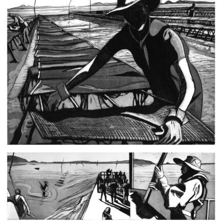 Pierre Collin, Figures du littoral planche 2, 2017