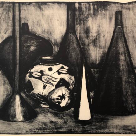 Jean-Baptiste Sécheret, Nature morte au vase, 1989