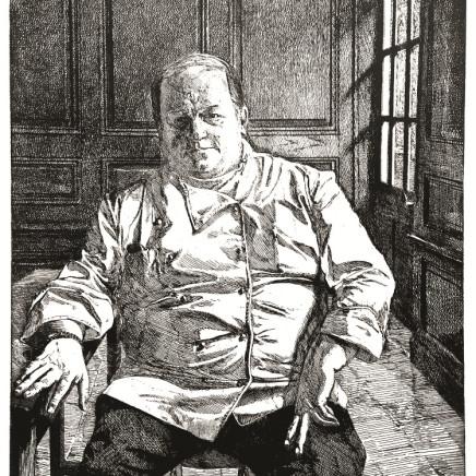 """Jean-Baptiste Sécheret, Jean-Pierre Villey, chef de cuisine du restaurant """"Au Vieux Honfleur"""", 2001"""