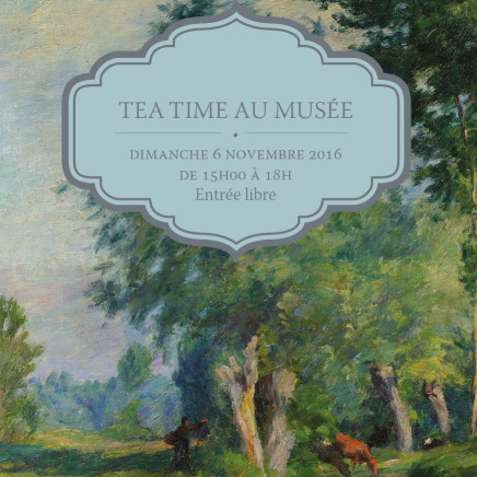 Invitation-flyer à l'évènement Tea Time au Musée