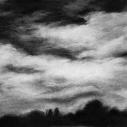 Sans Titre (Nuages), 2018, fusain sur papier