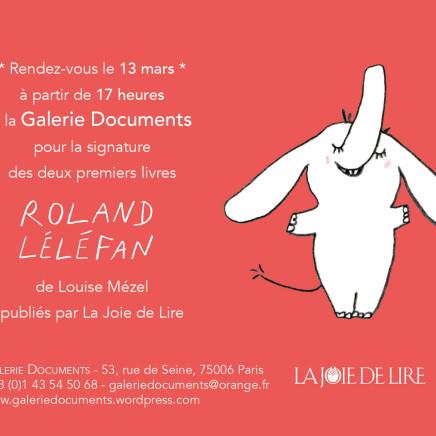 """Signature des livres """"Roland Léléfan"""" de Louise Mézel"""