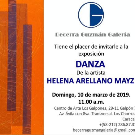 Exposition DANZA de l'artiste HELENA ARELLANO MAYZ
