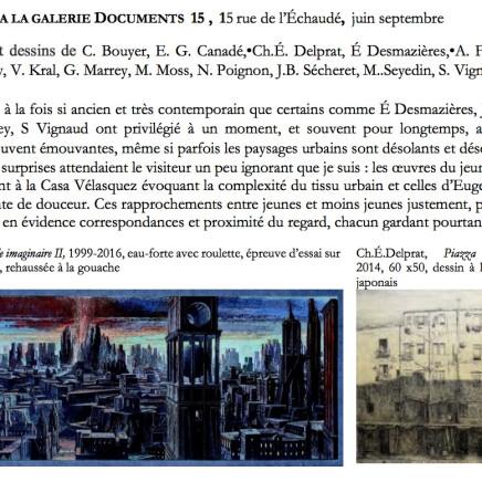 Villes en papier à LA GALERIE DOCUMENTS 15