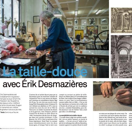 Erik Desmazières dans l'atelier de René Tazé ©JULIETTE AGNEL