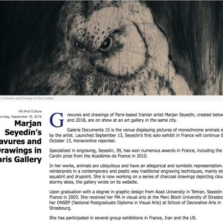 Marjan Seyedin's Gravures and Drawings in Paris Gallery