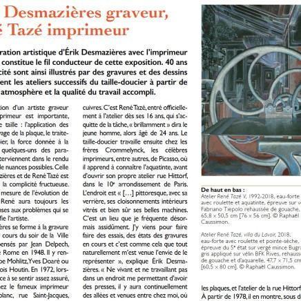 Érik Desmazières graveur, René Tazé imprimeur