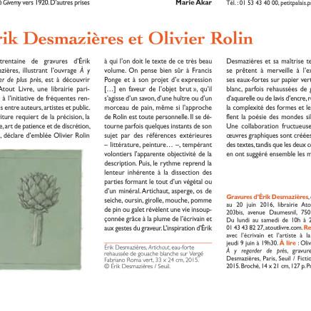 Érik Desmazières et Olivier Rolin