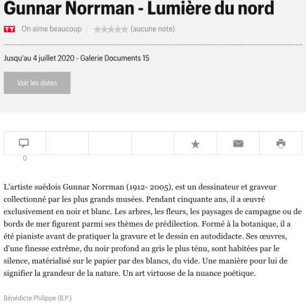 Gunnar Norrman - Lumière du nord