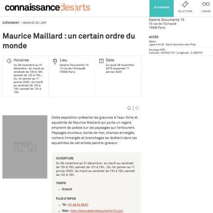Maurice Maillard : un certain ordre du monde