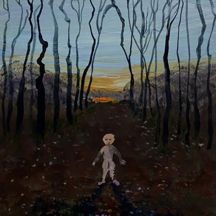 Lost Boy, Lost Boy, flashe on panel, 30.5 x 23cm, 2020