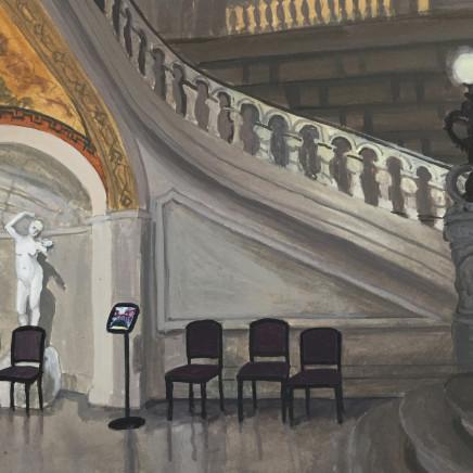 Foyer VII, gouache on paper, 18 x 24cm