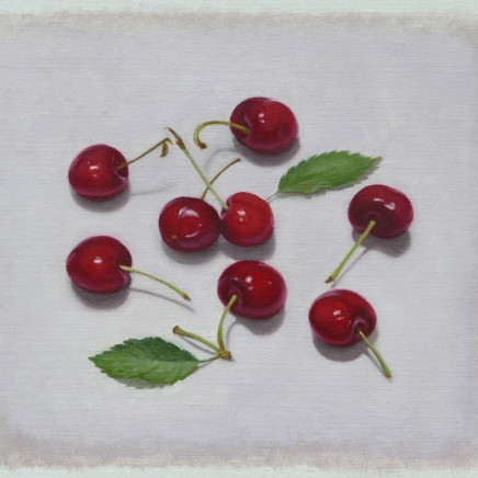 Cherries, oil on linen, 23 x 28 cm