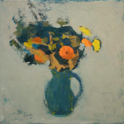 Flowers from Carol and Glen, oil on linen 23.5 x 23.5 ins